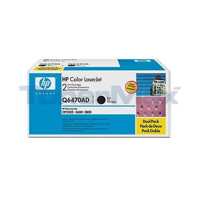 HP COLOR LASERJET 3600 TONER CARTRIDGES BLACK